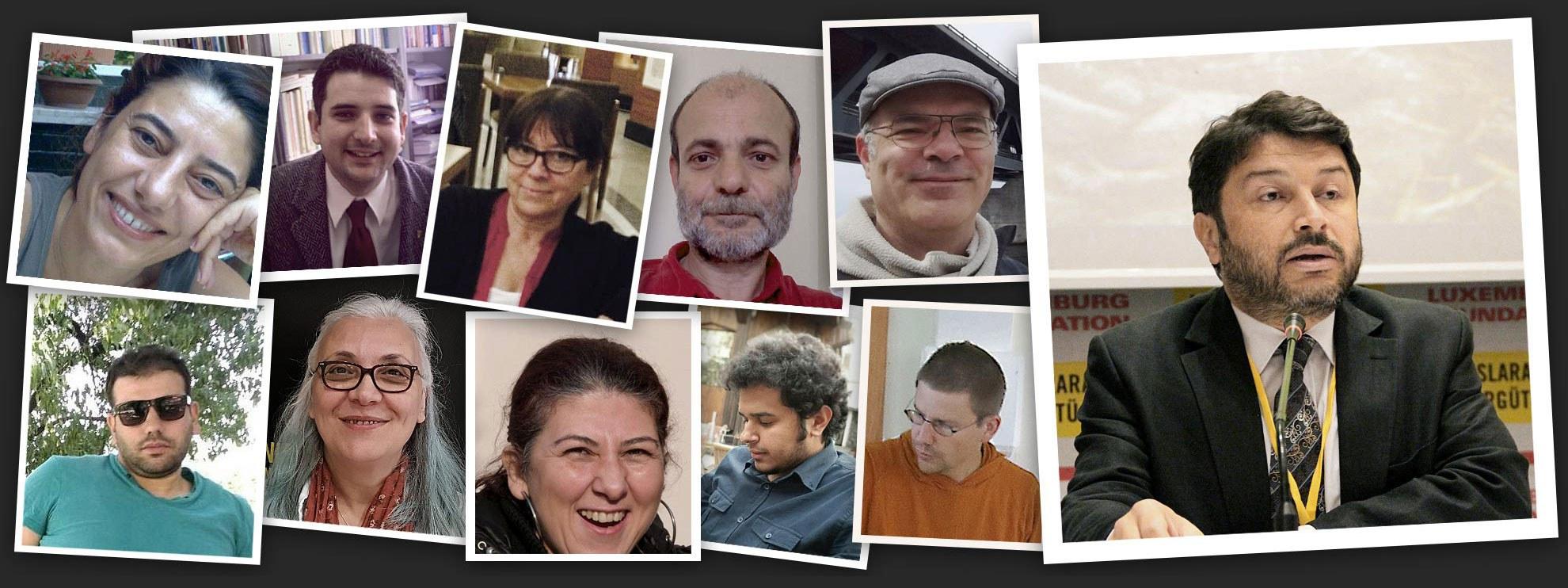 Idil Eser, Taner Kiliç und die andern verhafteten Menschenrechtsverteidiger.  © Amnesty International