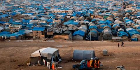 Das Atma Flüchlingslager im Norden Syriens nahe der türkischen Grenze. © mustafa olgun / shutterstock