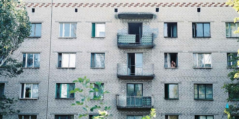 Wohnhaus in Kramatorsk in der Region Donetsk. © Nadzeya Husakouskaya