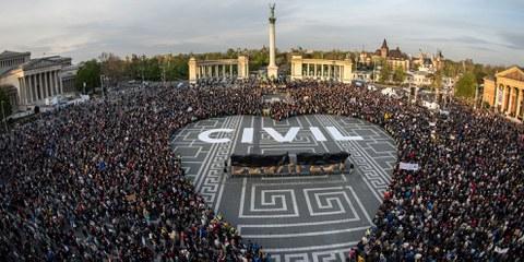 Kundgebung in Budapest © Gergo Toth