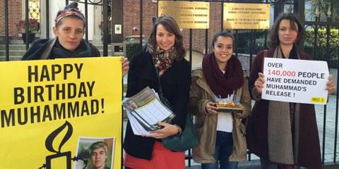 Kein Empfang für Amnesty International bei der usbekischen Botschaft in Brüssel. © AI