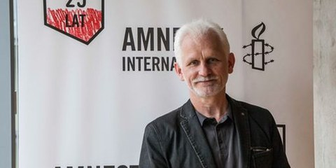 Ales Bialiatski, Vizepräsident der International Federation for Human Rights. Mai 2015 © Amnesty International
