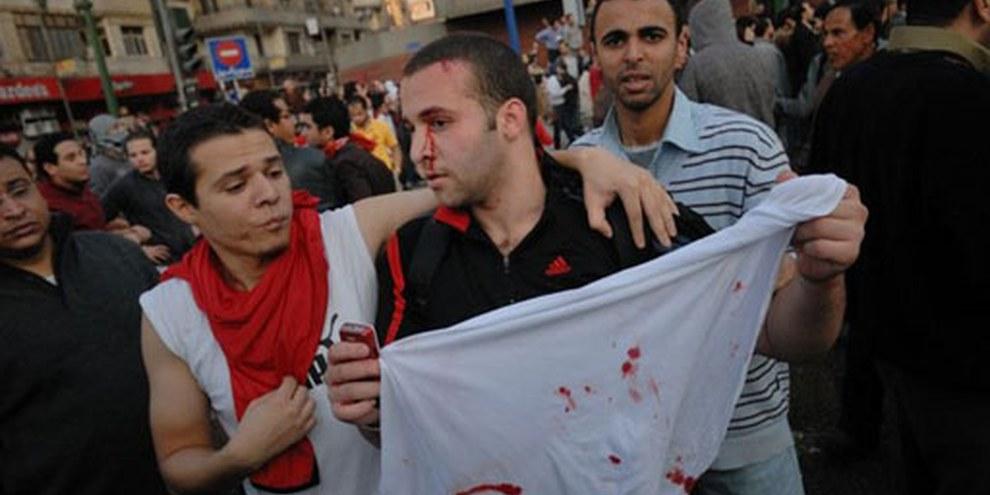 Demonstrierende in Kairo. © Demotix / Nour El Refai