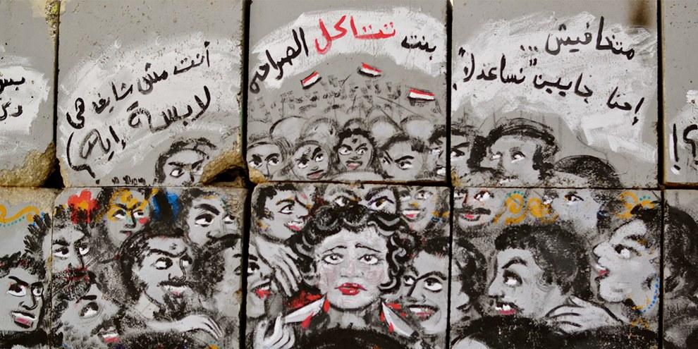 Graffiti gegen sexuelle Belästigung in Kairo © Melody Patry / Index on Censorship (mural by El Zeft and Mira Shihadeh)