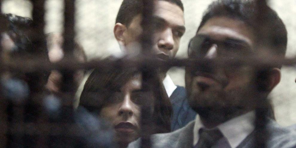 Bereits im März 2012 wurden ägytische Aktivistinnen und Aktivisten wegen angeblich illegaler Finanzierung ihrer NGOs vor Gericht gestellt: © KHALED DESOUKI/AFP/Getty Images