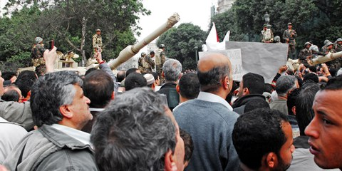 Seit dem Aufstand vom 25. Januar 2011, dem Beginn des «arabischen Frühlings» in Ägypten, wurden politische Proteste brutal unterdrückt – zum Teil mit von Frankreich geliefertem Gerät. © shutterstock.com