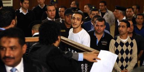 Shawkan an einer Gerichtsverhandlung im März 2016 © Ahmed Roshdi