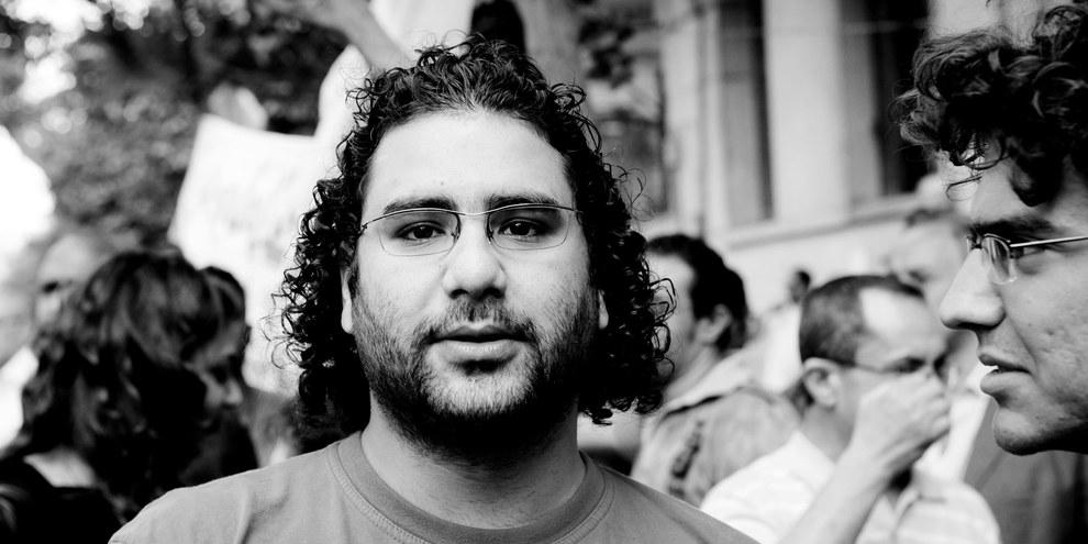 Der verhaftete Blogger und Aktivist Alaa Abdel Fattah.  ©  Hossam el-Hamalawy