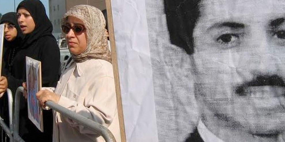Abdulhadi al-Khawaja wurde wegen Protesten gegen die Regierung Bahrains zu lebenslanger Haft verurteilt. © AP GraphicsBank
