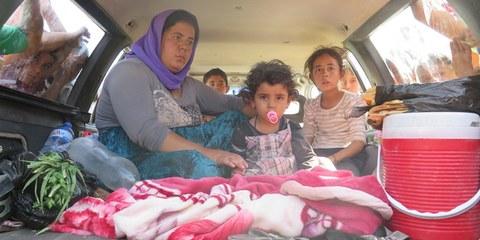 Angst vor dem «Islamischen Staat»: Jesidische Flüchtlinge im Nordirak. © AI