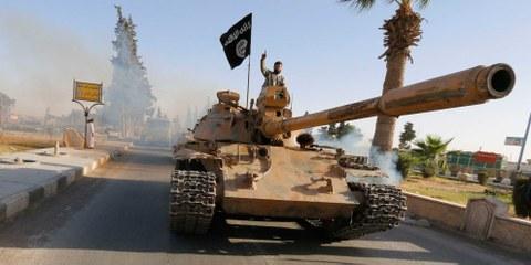 IS-Kämpfer in der nördlichen Provinz Rakka, Juni 2014 © REUTERS/Stringer