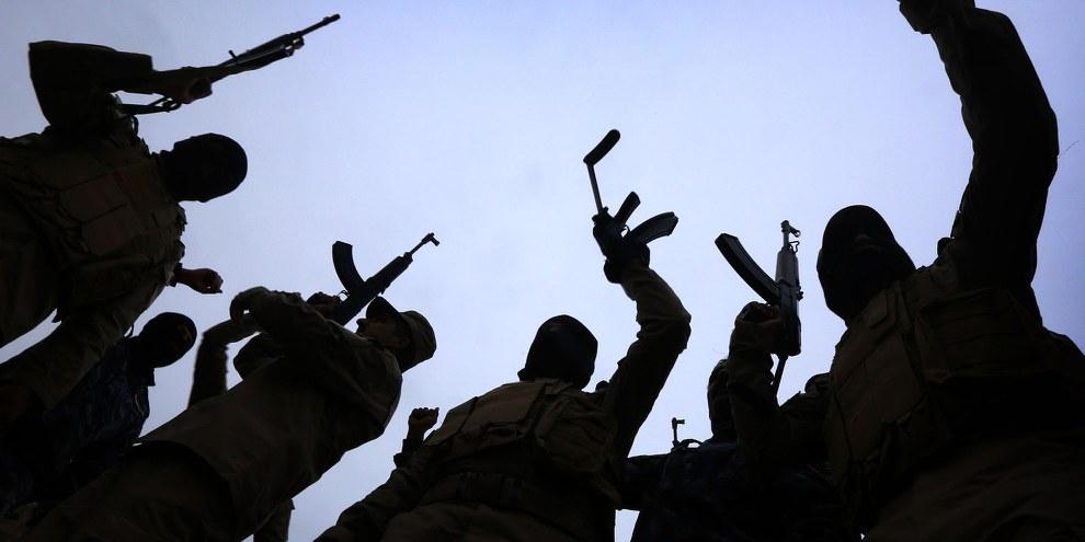 Irakische Polizisten beim Training © AFP/Getty Images