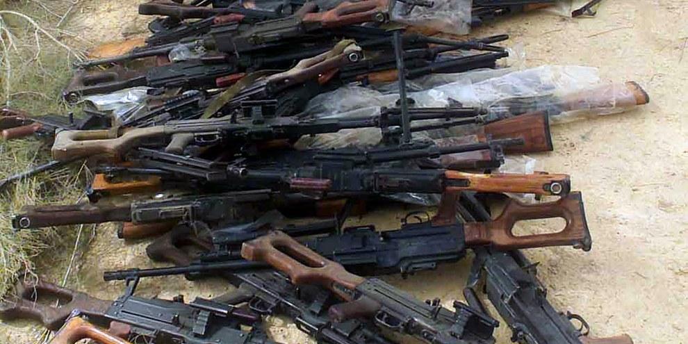 Russische Waffen, die die amerikanischen Streitkräfte ausgehoben haben. © U.S. National Archives and Records Administration