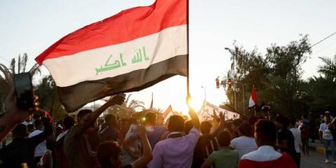 Demonstranten in Irak. © Sajjad Harsh / shutterstock