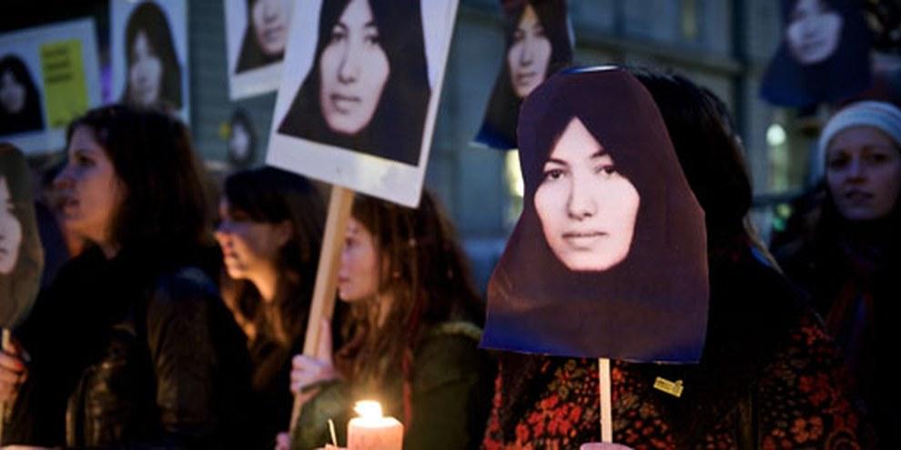 Demonstration gegen die Hinrichtung von Sakineh Ashtiani. Bern, 3. November 2011 © Susanne Keller
