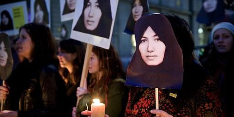 Protest für Sakineh Ashtiani in Bern. © AI