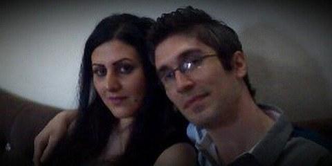 Golrokh Ebrhaimi Iraee und ihr Ehemann Arash Sadeghi. © Privat