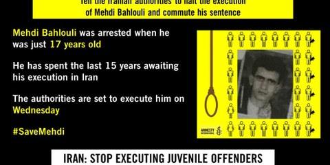 Hinrichtung von Mehdi Bahlouli gestoppt