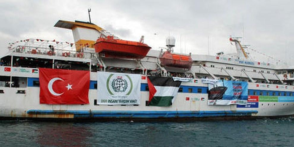 Die Mavi Marmara beim Auslaufen in der Türkei am 22. Mai © APGraphicsBank