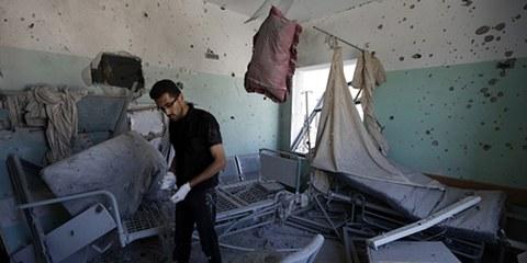 Das Al-Aksa-Spital in Deir al-Balah wurde unter Beschuss genommen. © MOHAMMED ABED/AFP/Getty Images