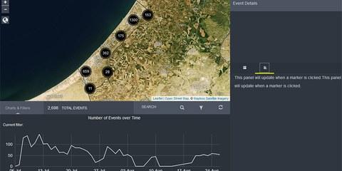 Interaktive Darstellung von 2500 israelischen Angriffen