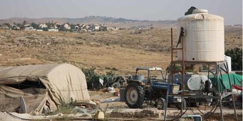Khirbet Susya, ein palästinensisches Dorf in den besetzten Gebieten, dem die Zerstörung droht. © Amnesty International