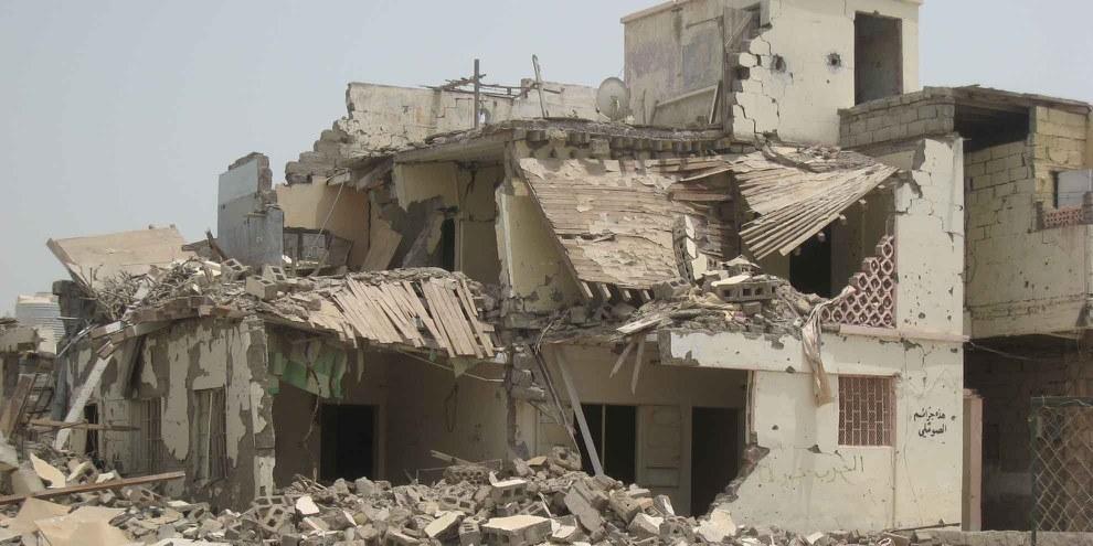 Zerstörte Gebäude in Abyan. © Amnesty International