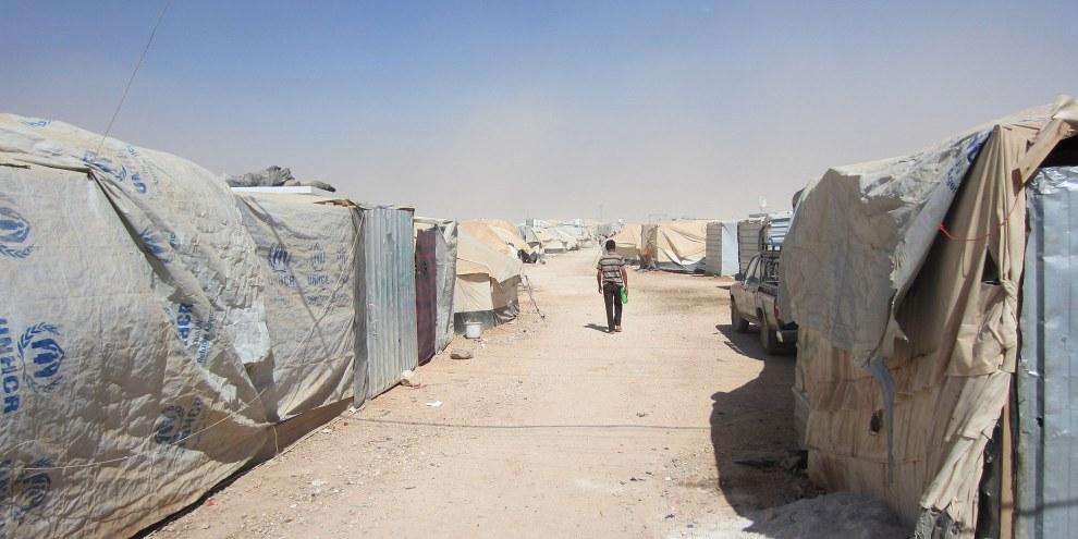 Im Flüchtlingslager Zaatari in Jordanien leben über 120'000 syrische Flüchtlinge. © Amnesty International