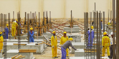 Arbeitsmigranten in Doha, März 2013 © Amnesty International
