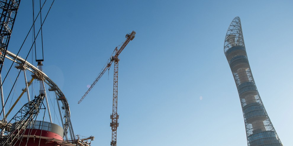 Das internationale Khalifa Stadion im Bau © Privat