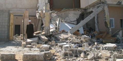 Viele zivile Häuser wurden von Gaddafi-treuen Truppen zerstört. © AI