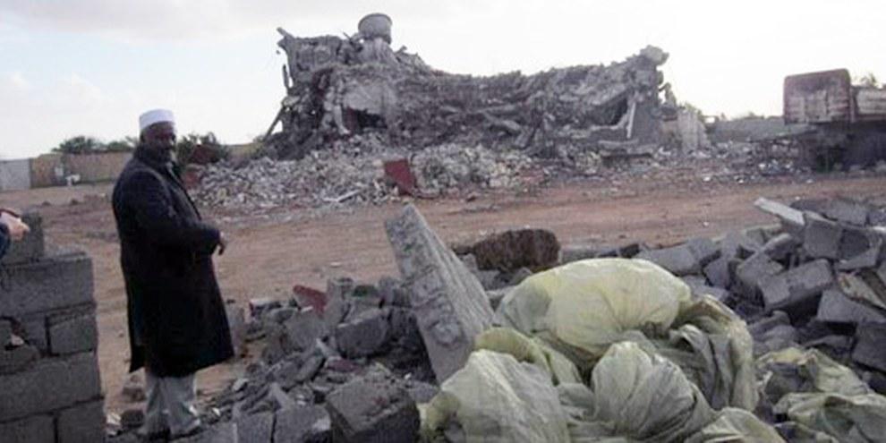 Das Haus der Familie Gafez im libyschen Majer wurde bei einem Luftangriff der NATO am 8. August 2011 zerstört.  © AI
