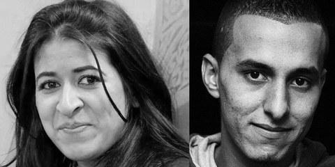 Für ihren Mut, gegen Folter zu klagen, sind Wafae Charaf und Oussama Housne heute im Gefängnis. © Amnesty International