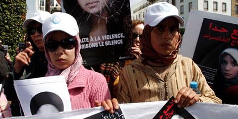 Demonstration gegen den Suizid von Amina al-Filali, Rabat, März 2012© REUTERS/Youssef Boudlal