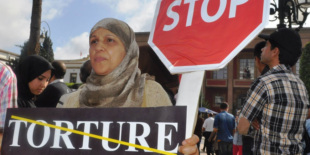 Aktion von Amnesty International Marokko, April 2015 © AI