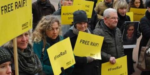 Demonstration für Raif Badawi in Bern © AI