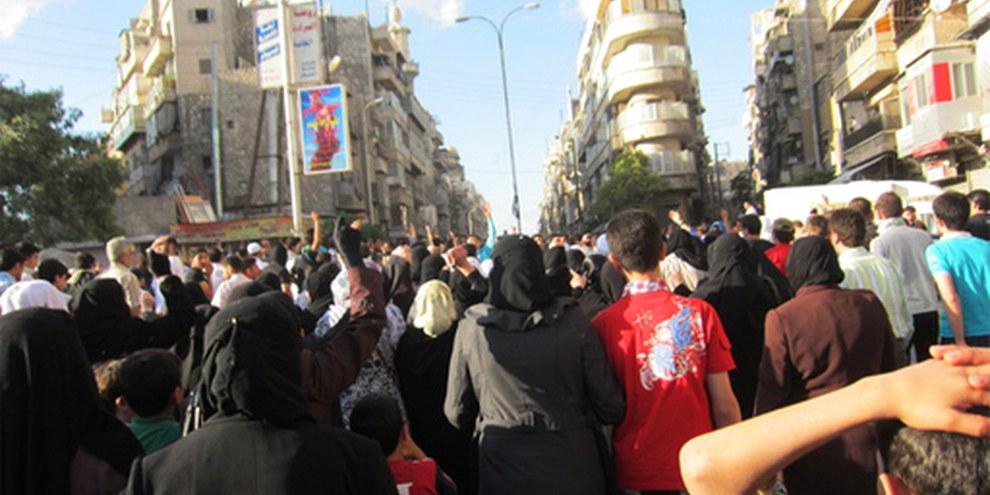 Auch in Aleppo feuerten Sicherheitskräfte mit scharfer Munition auf Demonstrierende © Amnesty International