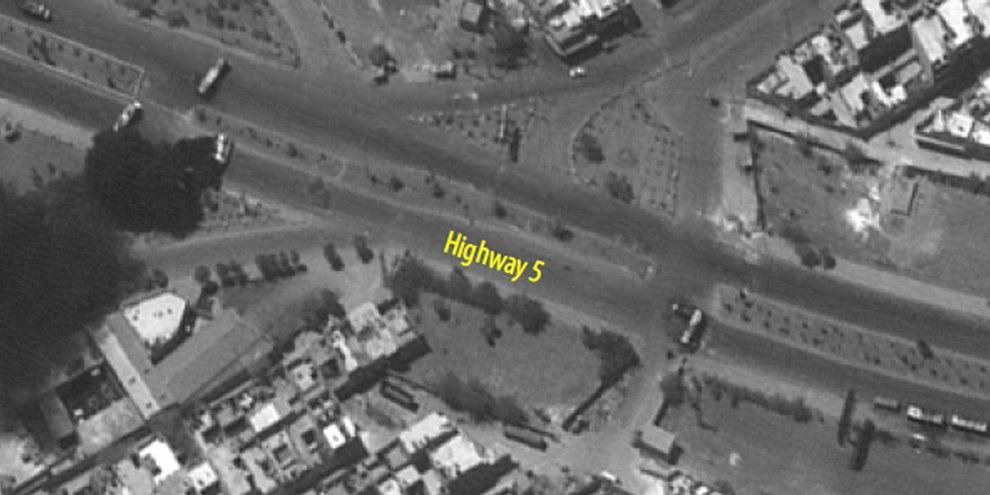 Satellitenbilder von Aleppo Juli/August 2012© Digital Globe 2012