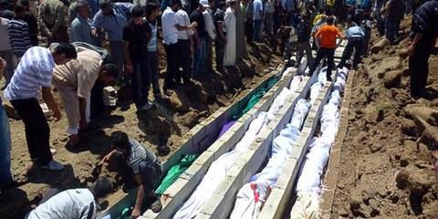 Das Massaker von Hula ist ein trauriges Beispiel für die Verbrechen gegen die Zivilbevölkerung. © Sniperphoto.co.uk/Demotix