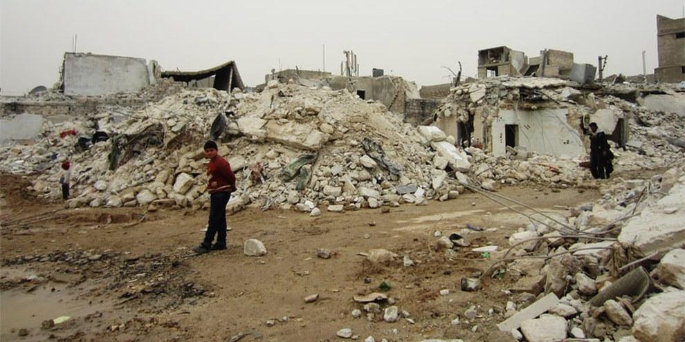 Einschlagort  in Aleppo, an dem 117 Menschen starben - 22. Februar 2013  © Amnesty International