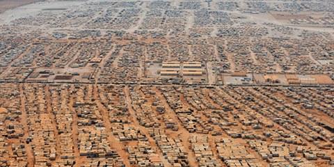 Syrische Vertriebene sitzen in der Falle, wie hier im Flüchtlingslager Al Zaatari in Jordanien. © REUTERS/Mandel Ngan