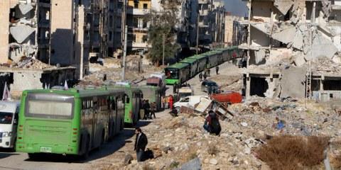 Aleppo, 15. Dezember 2016 © Ibrahim Ebu Leys/Anadolu Agency/Getty Image