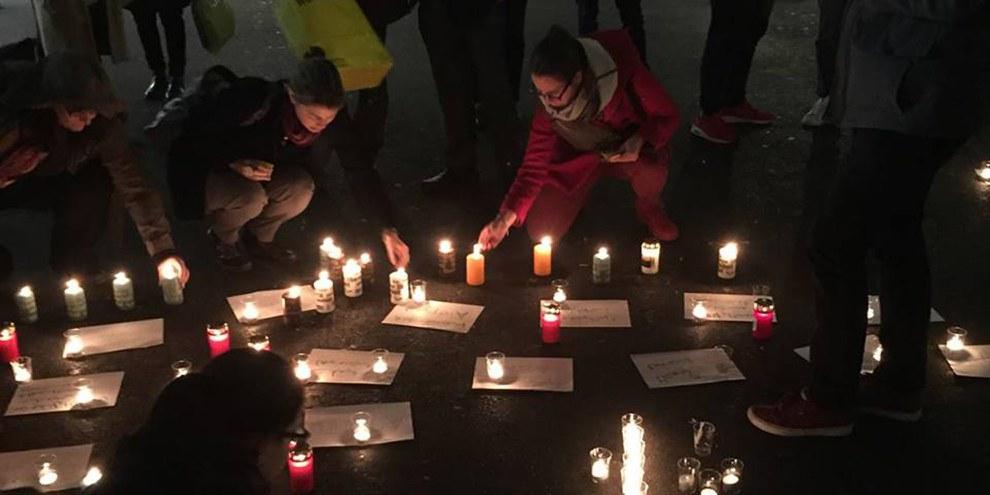 Mahnwache für Aleppo in Bern vom 14. Dezember 2016. © Amnesty International