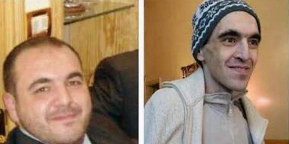 Der ehemalige Gefangene Mounir al-Fakir vor und nach seiner Inhaftierung in Saydnaya. © Privat