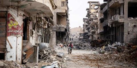 Kein Leben, nur Ruinen – den Menschen bot sich bei ihrer Rückkehr ein schreckliches Bild © Amnesty International