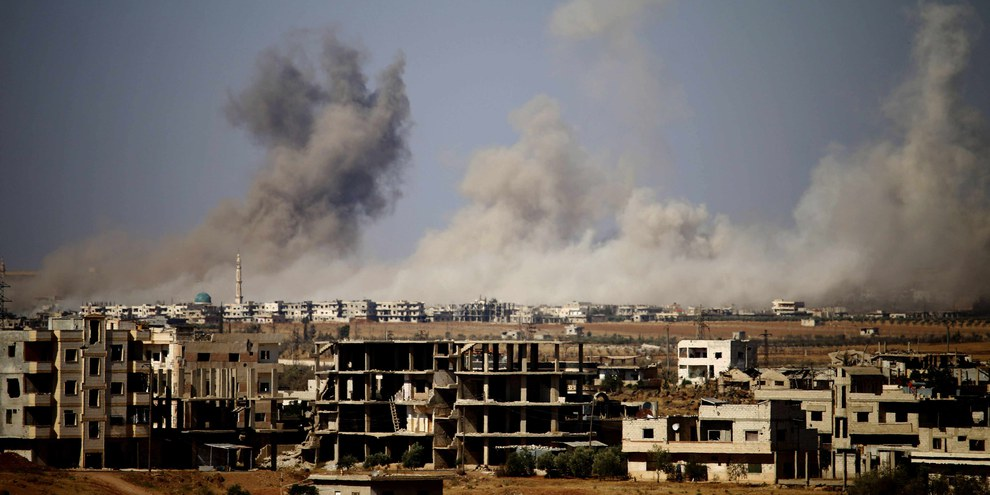 Rauch über Daraa  © MOHAMAD ABAZEED/AFP/Getty Images