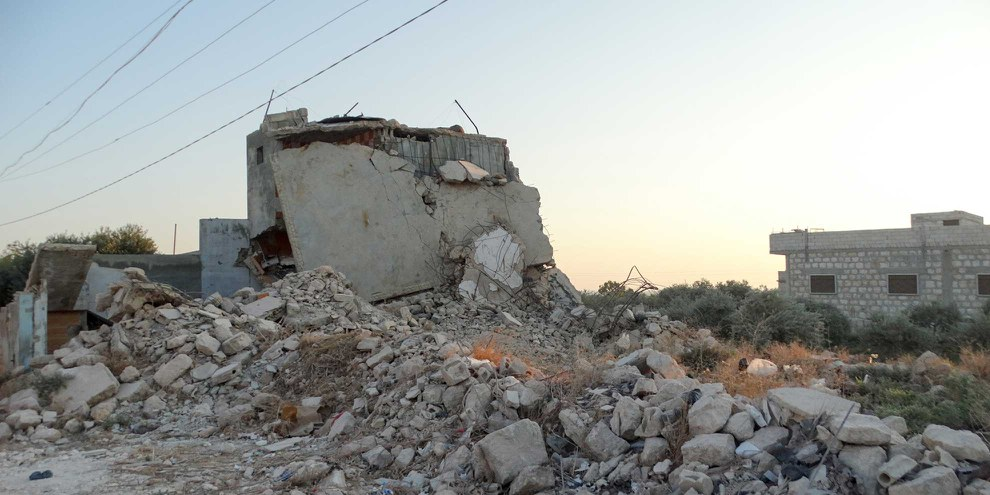 Zerstörtes Haus in Idlib . © MuscleMan29 / shutterstock