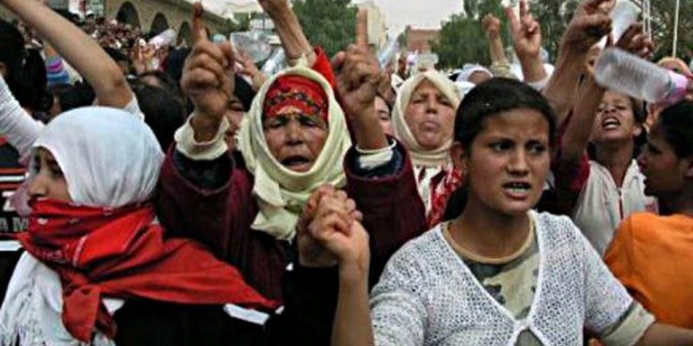 Demonstration für die Freilassung von tunesischen Gefangenen © Privat