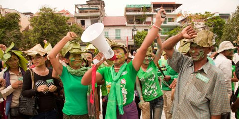 Zwangsräumungen in Kambodscha, die Aktivistin Phouk Hong © Amnesty International