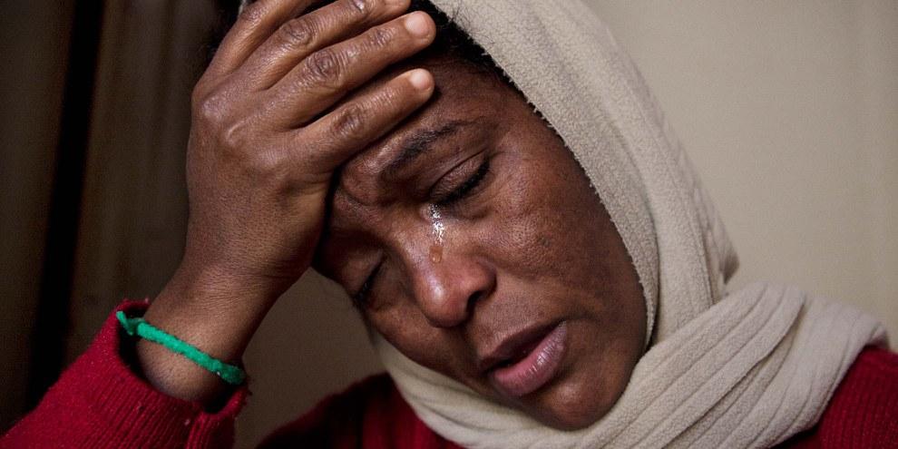Die Eritreerin Mikaila, Mutter von zwei in der Schweiz geborenen Kindern, hat nach langem Warten die Hoffnung verloren, in der Schweiz bleiben zu dürfen. © Jacek Pulawski